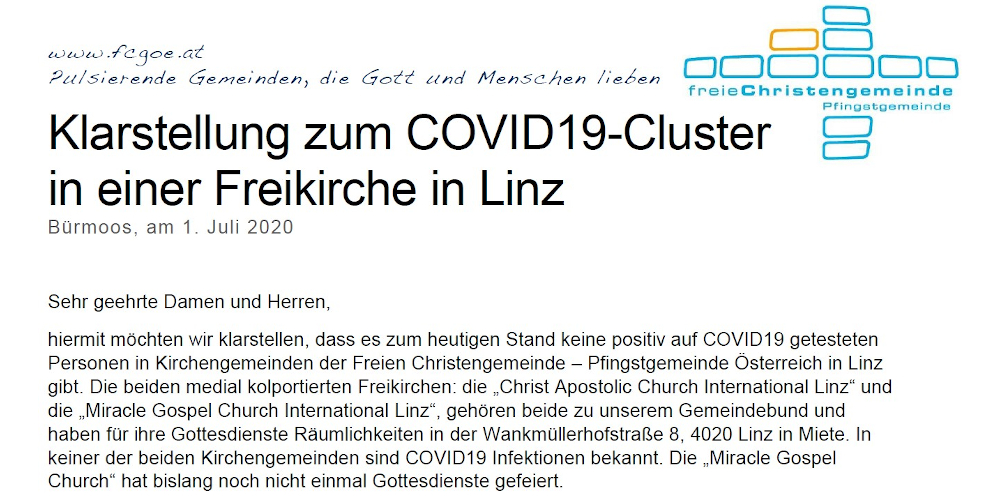 COVID19-Cluster-Linz